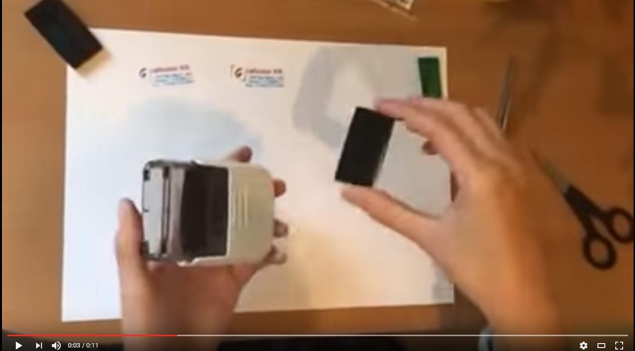 Hogyan cserélj bélyegző lenyomatot, és bélyegző tintapárnát?